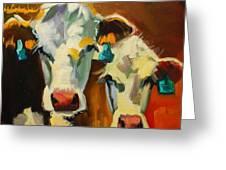 Sibling Cows Greeting Card