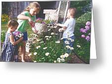 Siblings In Spring Greeting Card
