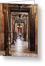 Side Aisle Of The Basilica Of The Mafra Greeting Card