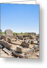 Side Ancient Shop Ruins Greeting Card