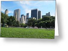 Side By Side Skyscrapers Greeting Card