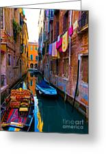 Side Canal  Venice Greeting Card