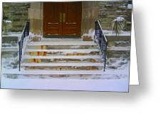 Side Entrance Greeting Card