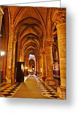 Side Hall Notre Dame Cathedral - Paris Greeting Card