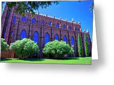 Side Of A Large Church Greeting Card