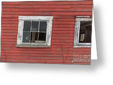 Side Of An Old Red Barn Quechee, Vermont Greeting Card