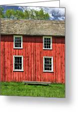Side Of Barn And Windows At Old World Wisconsin Greeting Card