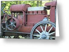 Side Of Mccormic Deering Tractor   # Greeting Card