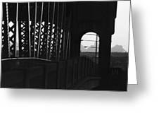 Side Of The Bridge  Greeting Card