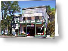 Side Street Cafe Los Olivos Ca Greeting Card