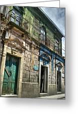 Side Street Homes Antiqua Guatemala 5 Greeting Card
