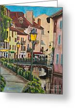 Side Streets In Annecy Greeting Card