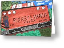 Side Tracked In Pa.  Greeting Card