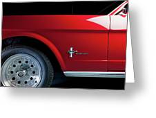 Side View Of 1964 Ford Mustang Greeting Card