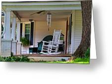 Side View Of Porch Greeting Card