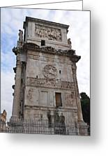 Side View Of The Arch Of Constantine Greeting Card