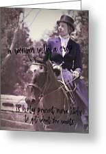 Sidesaddle Quote Greeting Card