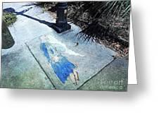 Sidewalk Angel Greeting Card