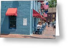Sidewalk Cafe Annapolis Greeting Card