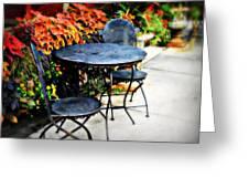 Sidewalk Cafe Greeting Card