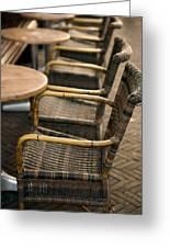 Sidewalk Cafe Texture Greeting Card