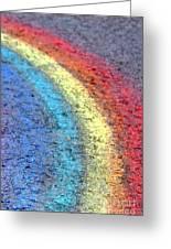 Sidewalk Rainbow  Greeting Card