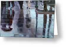 Sidewalk Reflections Greeting Card