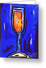 Sidzart Pop Art Series 2002 Champagne Celebration Greeting Card