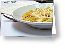 Siena-3-pasta With Four Cheeses Greeting Card