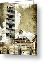 Siena Duomo Tower And Cupola Greeting Card