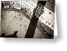 Siena From Above Greeting Card