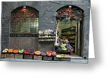 Siena Italy Fruit Shop Greeting Card