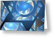 Sienna Blue Honeycomb Greeting Card