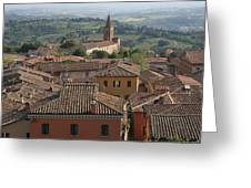 Sienna Rooftops Greeting Card