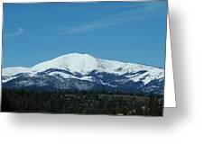 Sierra Blanca Mountain Greeting Card