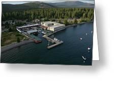 Sierra Boat Aerial Greeting Card