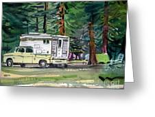 Sierra Campsite Greeting Card