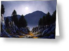 Sierra Moonrise Greeting Card