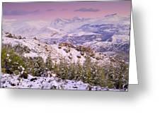Sierra Nevada At Sunset Greeting Card
