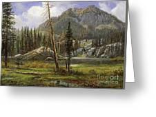 Sierra Nevada Mountains Greeting Card