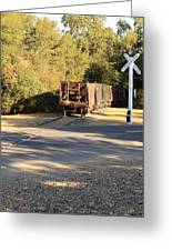 Sierra Railway Hoppers Greeting Card
