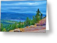 Sierras Before Snow Storm Greeting Card