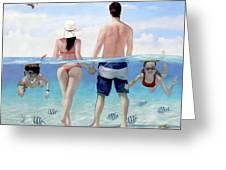 Siesta Beach Resort And Spa Mural Greeting Card