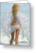 Siesta Key Beach Angel Greeting Card