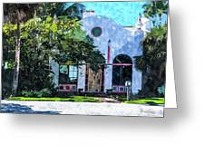 Siesta Key Beach Cottage Greeting Card