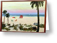 Siesta Key Beach Morning Greeting Card