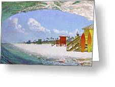 Siesta Key Curl Greeting Card