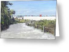 Siesta Key Public Beach Access Greeting Card