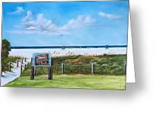 Siesta Key Public Beach Greeting Card