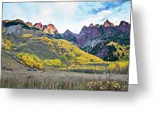 Sievers Peak And Golden Aspens Greeting Card